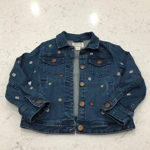 Crew Cuts x Madewell girls denim jacket, size 4-5
